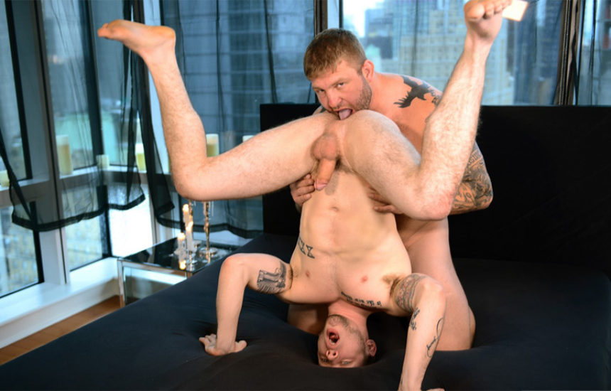 """Beefy masseur Colby Jansen fucks Colton Grey in """"The Imposter"""" part 2"""