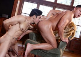 "Seth Santoro takes Rafael Alencar's huge cock in ""Godfather"" part one"