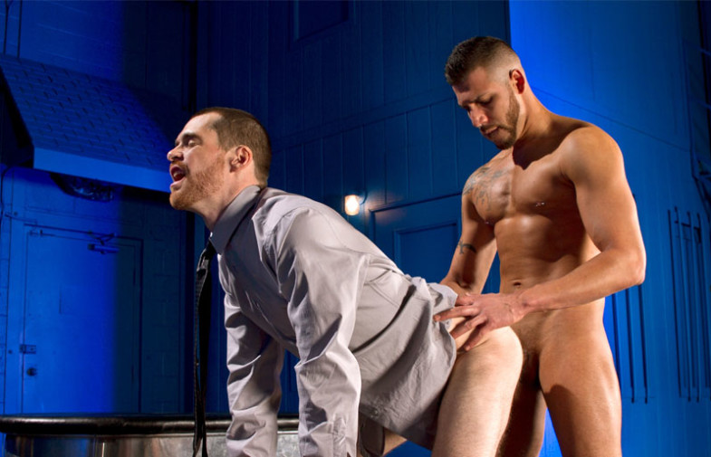 "FX Rios slams Christian Lesage's ass in ""Foreskin Mafia"" scene two"