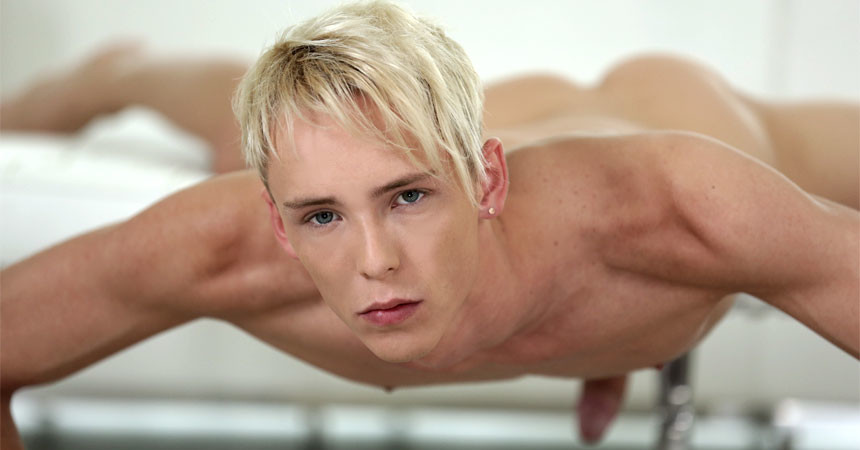 Staxus introduces hot new twink model Kris Blent