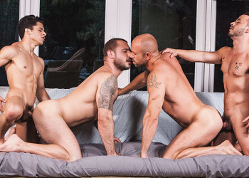 "Armond Rizzo and Rafael Lords fuck Pedro Andreas and Matt Stevens in ""Lads Fucking Dads"""