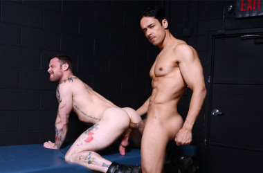 """Sergeant Miles takes Rafael Alencar's big dick in """"Dr. Anal"""" from Drill My Hole"""