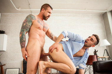 Hot stud Rocco Steele fucks Josh Milk in his Men.com debut