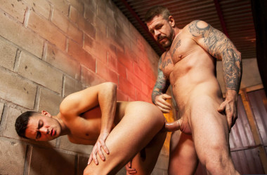 "Robbie Rojo takes Rocco Steele's big cock in ""Eat, Prey, Fuck"" part four"