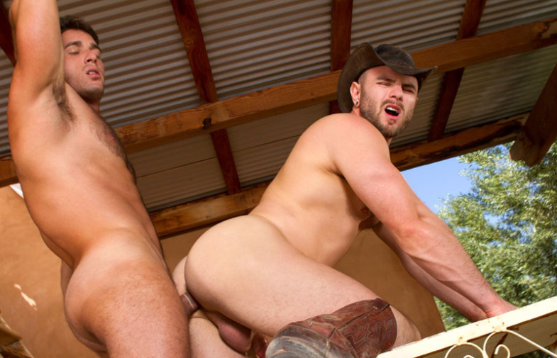 "Armando De Armas fucks Nick Sterling in ""Sidewinder"" part two from Raging Stallion"