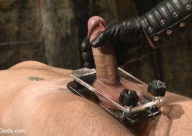Connor Maguire tests his new slave at Bound Gods