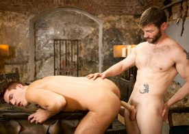 """Bearded stud Dennis West fucks Theo Ford in """"Gay of Thrones"""" part 8"""