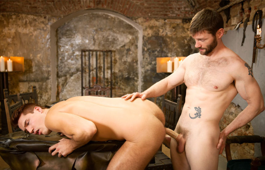 "Bearded stud Dennis West fucks Theo Ford in ""Gay of Thrones"" part 8"