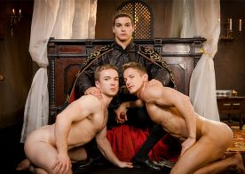 "Gabriel Cross and Darius Ferdynand get fucked by Johnny Rapid in ""Gay of Thrones"""