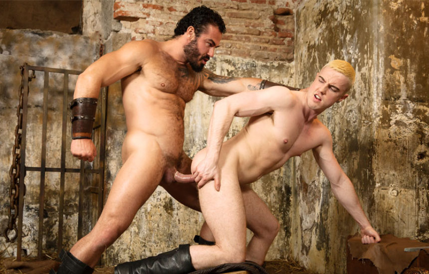 "Bearded stud Jessy Ares drills JP Dubois' ass in ""Gay of Thrones"" part 7"