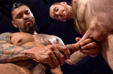 "Hung stud Boomer Banks fucks Christian Lesage in ""Foreskin Mafia"" part four"