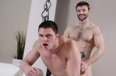 "Dennis West raw-fucks Jake Wilder in ""Johnny Rapid goes Bareback"" part two"