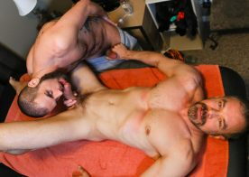 "Marcus Isaacs takes Max Sargent's hard dick in ""Rubdown Romance"""