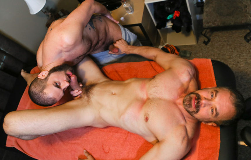 """Marcus Isaacs takes Max Sargent's hard dick in """"Rubdown Romance"""""""