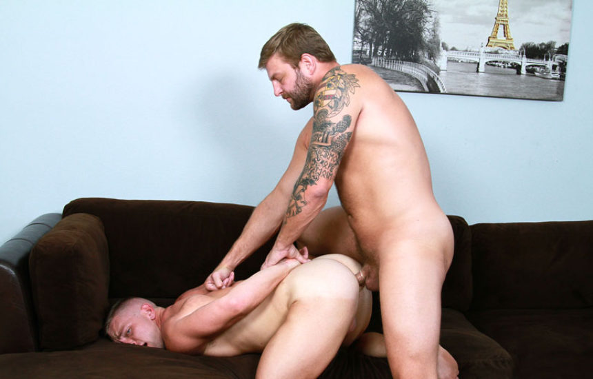 """Colby Jansen plows Scott Riley's tight ass in """"Straight Man's Whore"""" part one"""