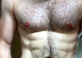 This hot guy is three things; hairy, hung and uncut