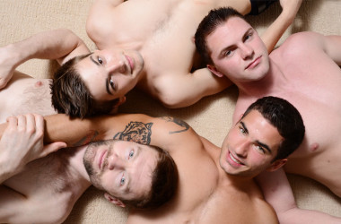 "Johnny Rapid, Vadim Black, Dennis West and Jake Wilder in ""Johnny Rapid goes Bareback"" 4"