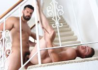 "Marcus Ruhl barebacks Lucas Knight in ""Garage"" part three from Juicy Boys"