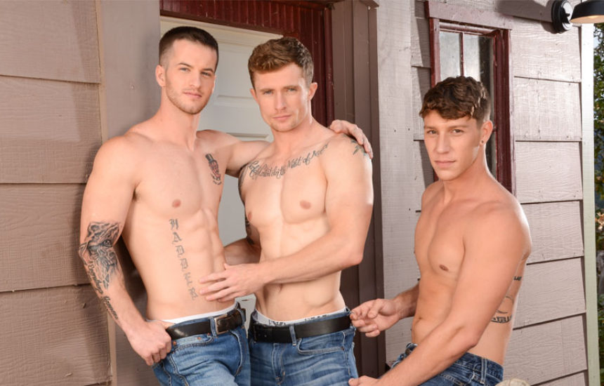 "Markie More, Paul Canon & Quentin in the first part of Next Door World's ""The Reunion"""