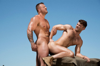 "Jacob Peterson bottoms for Austin Wolf in ""Total Exposure 2"" scene two"