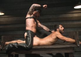 Rocco Steele returns to Bound Gods with slave boy Adam Ramzi