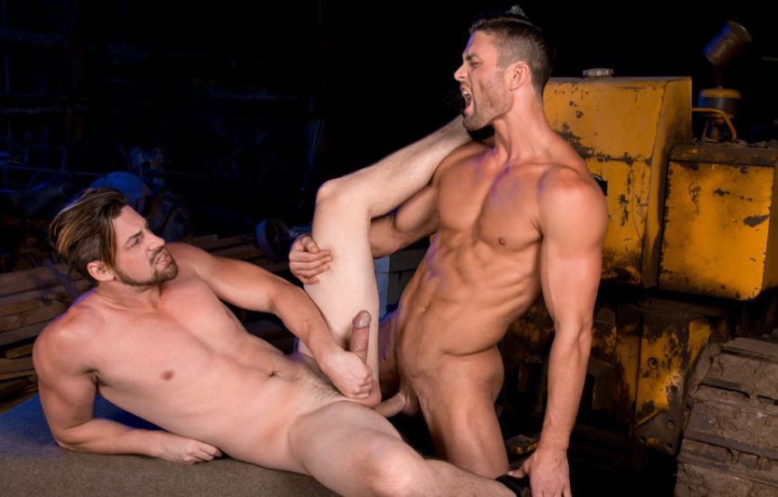 "Ryan Rose and Andrew Stark flip-fuck in ""Total Exposure 2"" from Raging Stallion"