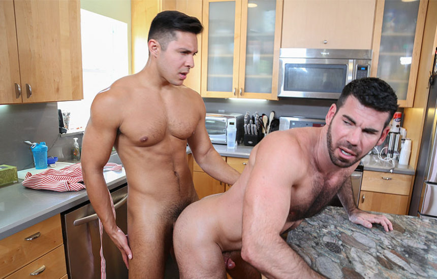 "Seth and Billy Santoro flip-fuck in ""Freshly Flipped"" from Pride Studios"