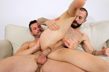 Hung stud Dany Romeo fucks bearded bottom Angel Garcia at Butch Dixon