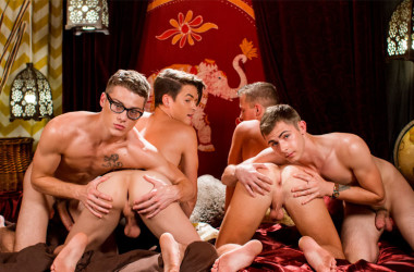 Andy Taylor, Kody Knight, Blake Mitchell and Brad Chase in a hot fourgy