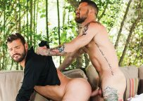 Sergeant Miles and Xavier Jacobs fuck raw at Lucas Entertainment