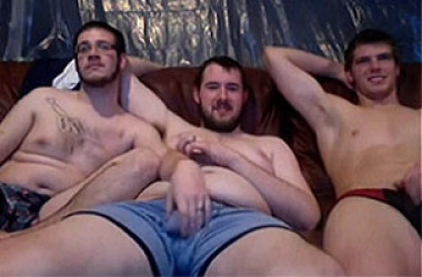 Three amateurs on webcam