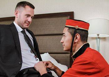 """Chandler Banks raw-fucks Brenner Bolton in """"Bell Boys"""" part one from Bromo.com"""