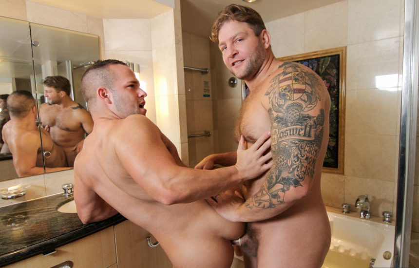 "Colby Jansen fucks Luke Adams in ""Men At Sea"" part four from Men.com"