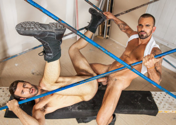 "Damien Crosse plows Dario Beck's ass in ""Truck Stop"" part two from Men.com"
