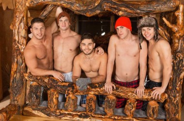 "Lane, Brodie, Joey, Tanner and Rowan fuck in Sean Cody's ""Winter Getaway Day 1"""