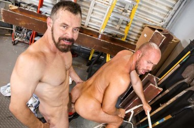 Hung top Max Sargent fucks power bottom Matt Stevens at Pride Studios