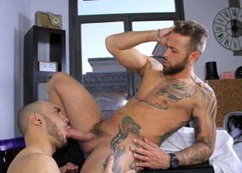 Paolo bottoms for Frank Valencia's uncut cock at Butch Dixon