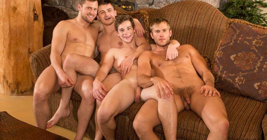 "Blake and Robbie fuck Atticus and Brendan in Sean Cody's ""Winter Getaway Day 8"""