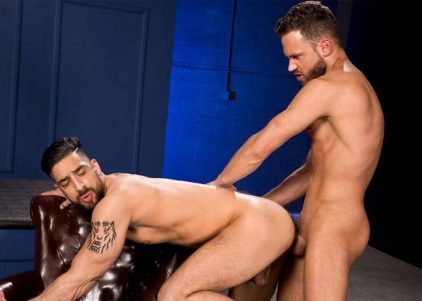 """Samir Hott gets fucked by Logan Moore in """"Temptation"""" part two from Raging Stallion"""