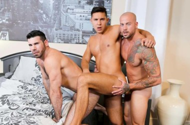 Sean Duran, Billy Santoro and Seth Santoro in a incredibly hot Pride Studios threesome