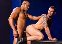 """Chris Harder bottoms for muscle stud Michael Thomas in """"Labyrinth"""" part two"""