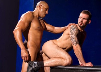 "Chris Harder bottoms for muscle stud Michael Thomas in ""Labyrinth"" part two"