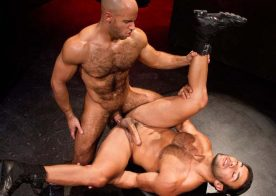 "Hairy stud Sean Zevran pounds Dorian Ferro in ""Labyrinth"" part one from Raging Stallion"