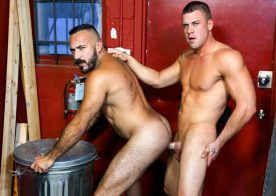 """Alessio Romero bottoms for Darin Silvers in """"Hitchhicker Payment Plan"""" from Pride Studios"""