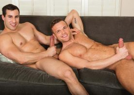Big-dicked studs Sean and Randy suck and fuck each other at Sean Cody