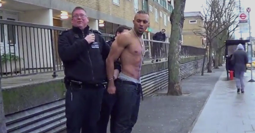 WTF? Guy pissing while being cuffed and arrested by police