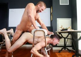 """Dirk Caber and Jack Hunter flip-fuck in """"Straight A Student"""" part three from Men.com"""