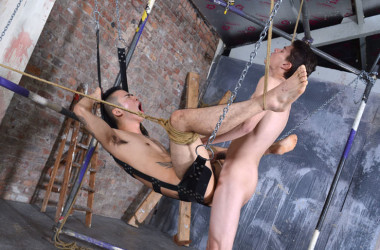 Titus Snow fucks Yoshi Kawasaki in a leather sling at Boynapped