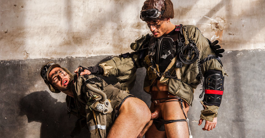 """Dario Beck and Jay Roberts fuck each other in """"Apocalypse"""" part two from Men.com"""