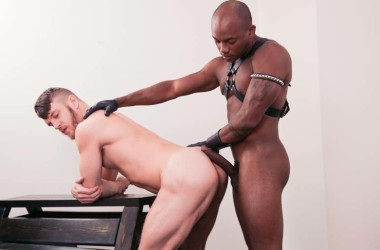 "Hung leather top Osiris Blade plows power-bottom Caleb King in ""Taut Leather"""